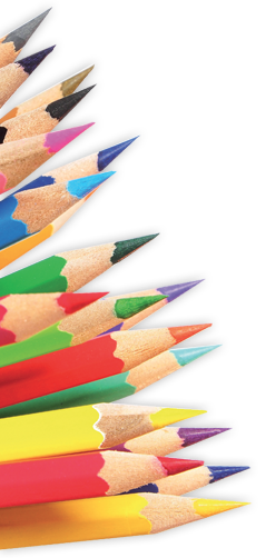 Habillage crayons de couleurs